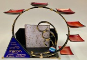 Gary Rosenthall: Seder plate and matzoh holder combination 2