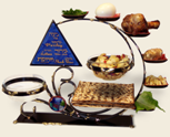Gary-Rosenthall-Seder-plate-and-matzoh-holder-combination-3