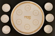 Porcelain-Seder-plate-with-14k-gold-border-and-lettering-no-artist